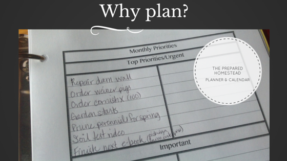 Why make a plan?