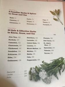 medicinal herbs TOC